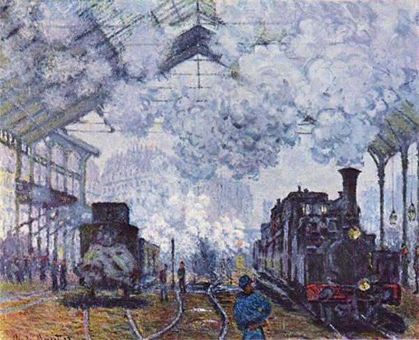Gare Saint Lazare (Claude Monet - 1877)