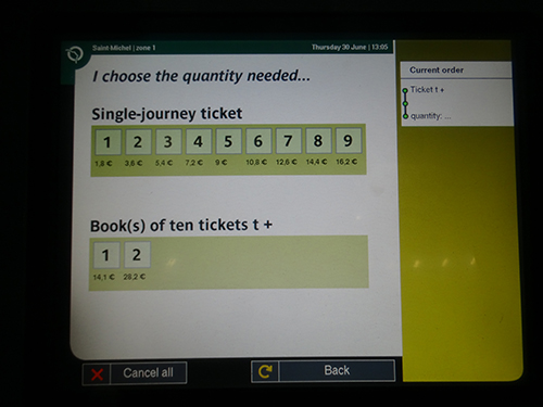 Choose the number of tickets you want